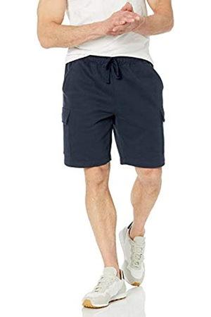 Amazon Fleece Short Pantaloni Cargo da Uomo, Marino, L