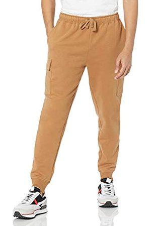 Amazon Uomo Cargo - Cargo Fleece Jogger Sweatpant Pantaloni da Tuta, Tan, M