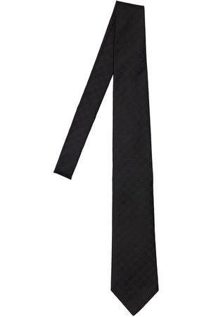 Gucci Cravatta In Seta Gg 8cm