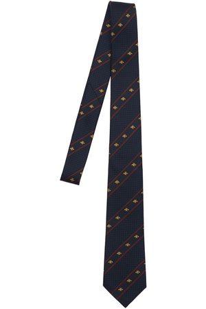 Gucci Cravatta In Seta Con Web 7cm