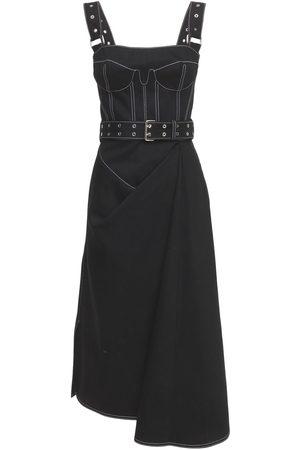 Alexander McQueen Donna Vestiti estivi - Vestito In Denim Di Cotone Con Cintura