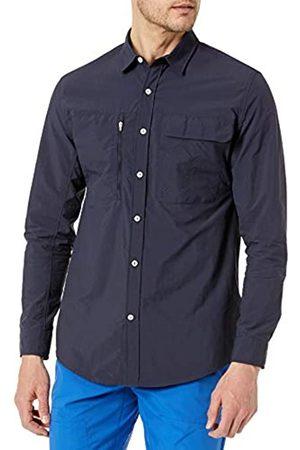 Amazon Camicia da Trekking a Maniche Lunghe con vestibilità Regolare Athletic-Shirts, Notte, US