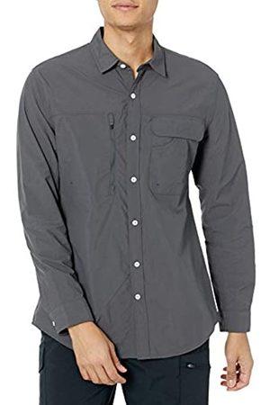 Amazon Camicia da Trekking a Maniche Lunghe con vestibilità Regolare Athletic-Shirts, Scuro, US