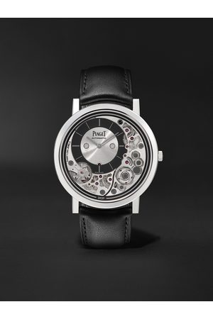 PIAGET Uomo Orologi - Altiplano Ultimate Automatic 41mm 18-Karat White Gold and Leather Watch, Ref. No. G0B43121