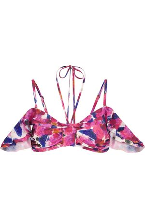 Isabel Marant Top bikini Skiros a stampa floreale