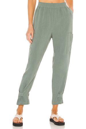 Bobi Donna Pantaloni - BLACK Indio Linen Pant in - . Size L (also in XS, S, M).