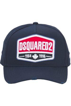 Dsquared2 Uomo Cappelli con visiera - Cappello Baseball In Gabardina Di Cotone