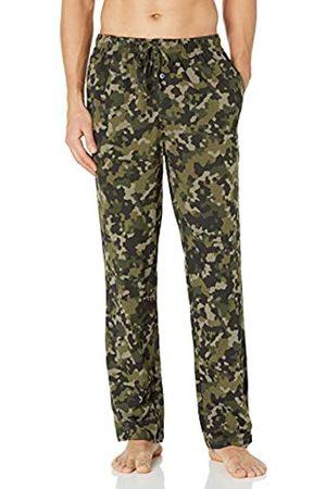 Amazon Pantaloni Pigiama Lavorati a Maglia. Pajama-Bottoms, Olive Geo Camo, US S