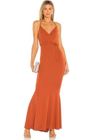 Michael Costello Donna Vestiti lunghi - X REVOLVE Genevieve Maxi Dress in - Rust. Size L (also in XXS, XS, S, M, XL).