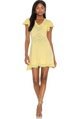 LOVESHACKFANCY Donna Vestiti estivi - Fresno Dress in - Lemon. Size L (also in S, XS, M).