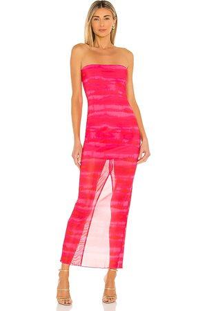 h:ours Rios Maxi Dress in - Fuchsia. Size L (also in XXS, XS, S, M, XL).