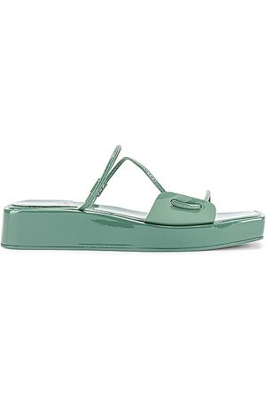 Jeffrey Campbell Atumano Flatform Sandal in - Sage. Size 10 (also in 6, 6.5, 7, 7.5, 8, 8.5, 9, 9.5).