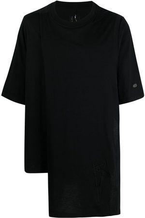 Rick Owens T-shirt asimmetrica con maniche corte