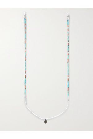 Mikia Multi-Stone, Sterling Silver and Silk Sunglasses Chain