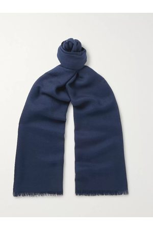 Loro Piana Uomo Sciarpe - Fringed Cashmere and Silk-Blend Scarf