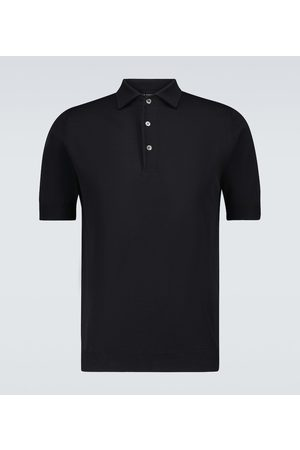 Thom Sweeney Polo in ice cotton