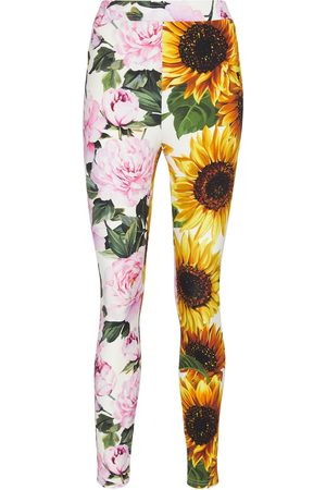 Dolce & Gabbana Leggings patchwork a stampa floreale