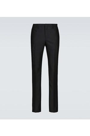 Fendi Pantaloni in raso di lana