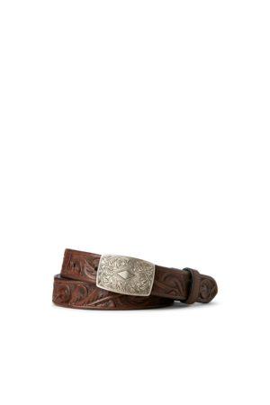 RRL Cintura in pelle lavorata a mano