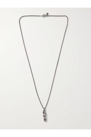 Alexander McQueen Burnished -Tone Pendant Necklace