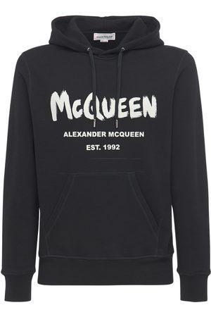 Alexander McQueen Uomo Felpe - Felpa In Cotone Con Stampa E Cappuccio