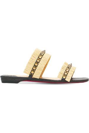 """Christian Louboutin Sneakers """"marivodou"""" Effetto Rafia 10mm"""