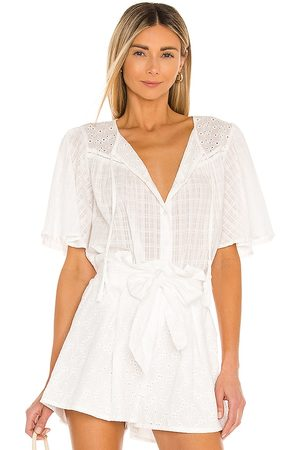 Minkpink Donna Bluse - Idalia Blouse in - White. Size L (also in S, XS, M).