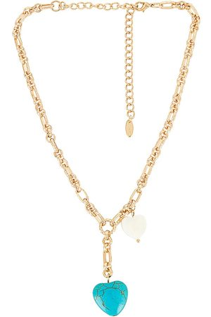 Ettika Turquoise Heart Lariat Necklace in - Metallic . Size all.