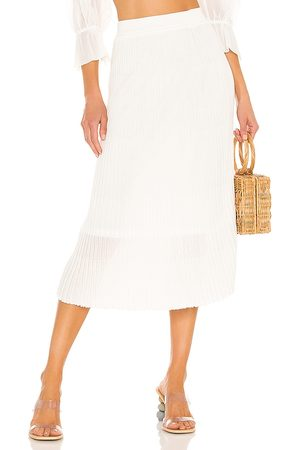 John & Jenn by Line Donna Gonne - Tai Skirt in - White. Size L (also in S, XS, M).