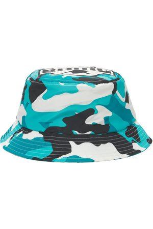BHMG Uomo Cappelli - Cappello Bucket In Techno Camouflage Con Logo