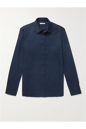 The Row Uomo Casual - Robin Cotton and Cashmere-Blend Shirt