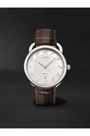 Hermès Uomo Orologi - Arceau Automatic 40mm Steel and Alligator Watch, Ref. No. 055562WW00