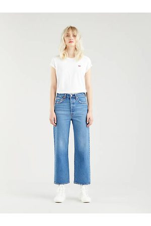 Levi's Ribcage Straight Ankle Jeans Light Indigo / Jive Together