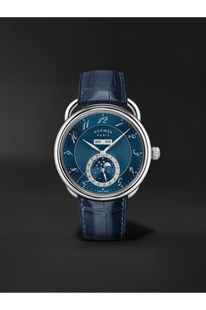 HERMÈS TIMEPIECES Uomo Orologi - Arceau Grande Lune Automatic Moon-Phase 43mm Steel and Alligator Watch, Ref. No. 053222WW00