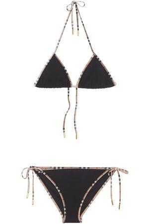 Burberry Donna Costumi interi - Bikini In Nylon Check