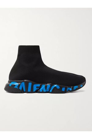 Balenciaga Uomo Sneakers - Speed Sock Logo-Print Stretch-Knit Slip-On Sneakers