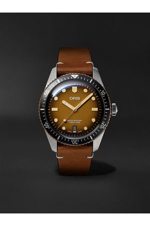 Oris Uomo Orologi - Divers Sixty-Five Automatic 40mm Bronze, Stainless Steel and Leather Watch, Ref. No. 01 733 7707 4356-07 5 20 45