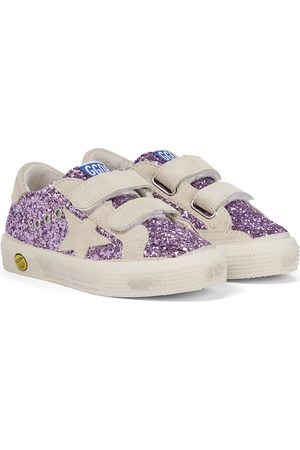 Golden Goose Bambina Sneakers - Sneakers May School in suede con glitter