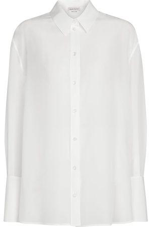 Alexander McQueen Donna Camicie - Camicia in chiffon di seta