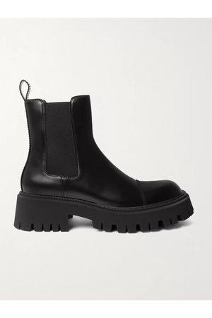 BALENCIAGA Tractor Logo-Debossed Leather Chelsea Boots