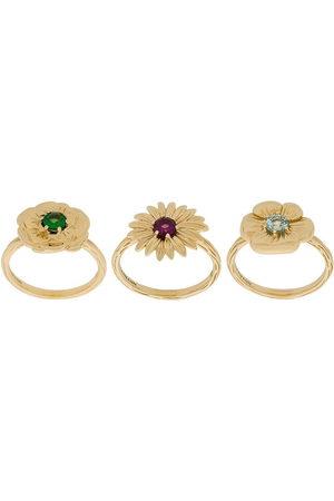 Aurélie Bidermann Set di anelli 'Bouquet' - Effetto metallizzato