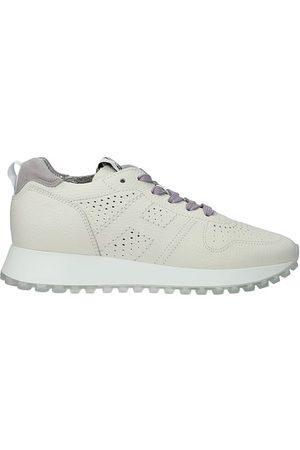 Hogan Sneakers h429 Donna Pelle Arenaria
