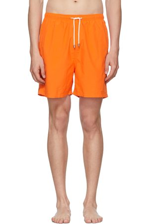Solid Orange Classic Swim Shorts