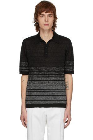 Saint Laurent Black & Silver Lurex Polo