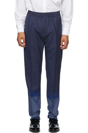 Givenchy Navy & Blue Wool Jogger Trousers