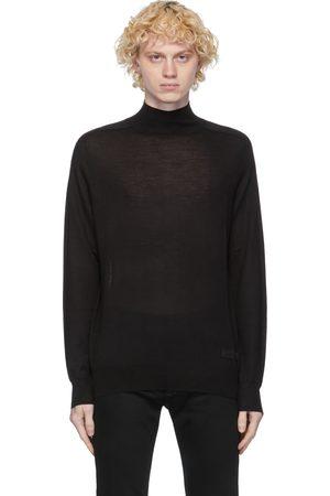 Givenchy Black Wool & Silk Turtleneck