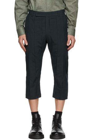 Cornerstone Navy Wool Pleated Trousers