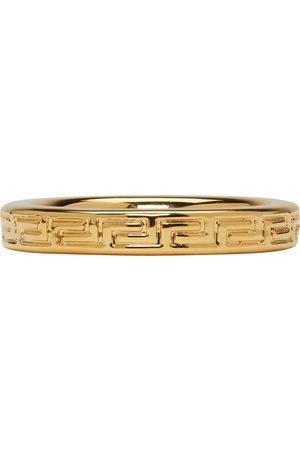 VERSACE Gold Greek Key Ring