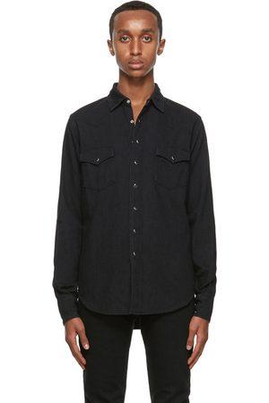 Saint Laurent Black Denim Classic Western Shirt