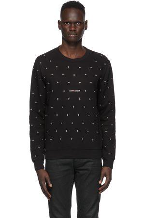 Saint Laurent Black Eyelet Sweatshirt